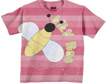 Girls Bumble Bee T-shirt, Personalized Honey Bee Shirt, Top, Children's Clothing