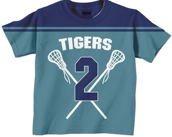 Personalized Lacrosse Shirt,  Sport Jersey T-Shirt, Any Colors, Match Your Team, Boy's Lacrosse Jersey TShirt