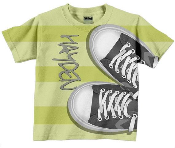 Boys T Shirt, Tennis Shoes Personalized Sneakers tshirt