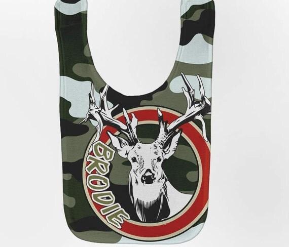Camouflage Baby Bib - Personalized Deer Custom Bib