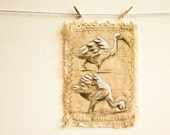 Embroidered Drawing on Linen