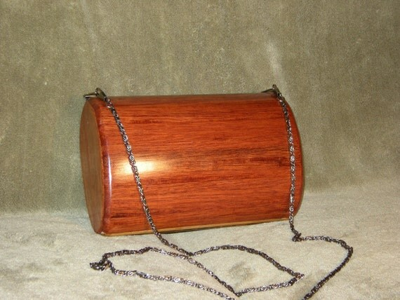 Clutch Bag Mahogany with Leather Interior Lining