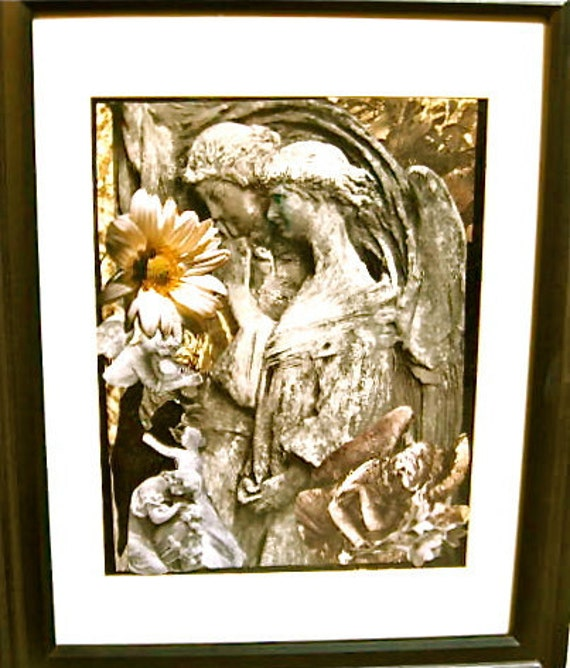 50% OFF Eight ANGELS & A DAISY Collage Matted Glassed Framed