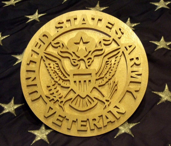 Army - United States Army Veteran Plaque