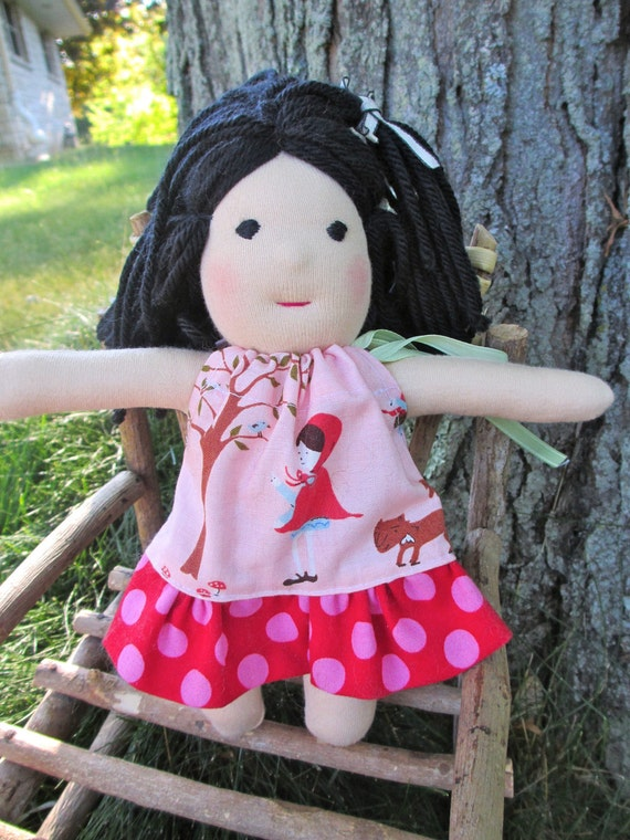 "RESERVED for Andrea - 8 1/2"" Waldorf doll - Maisy - with free bonus outfit"