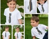 Tie T shirt boys toddlers babies long sleeve short sleeve