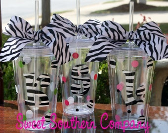 10 Personalized Acrylic Tumblers with Lid and Straw