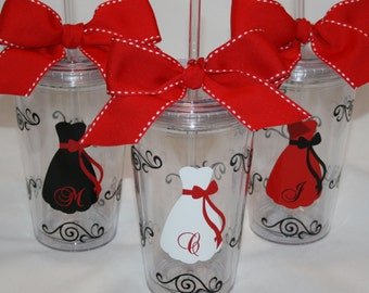 7 Personalized Bride and Bridesmaids  Acrylic Tumblers