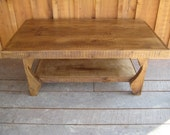 Reclaimed Chestnut Rafter Tail Coffee Table