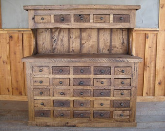 Reclaimed Chestnut Multi-Drawer Hutch