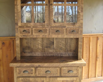Aged Oak Hutch