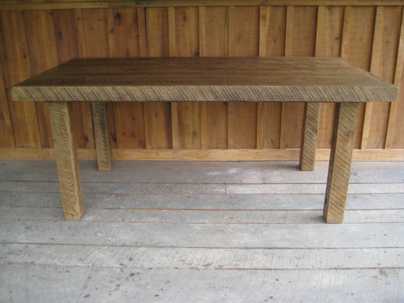 Aged Oak Harvest Table