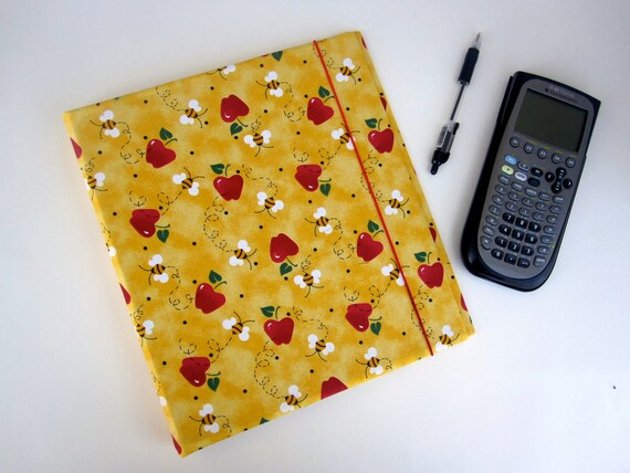 APPLE BEE Elastic Closure Binder Cover 3 Ring Binder Journal Notebook 1 inch