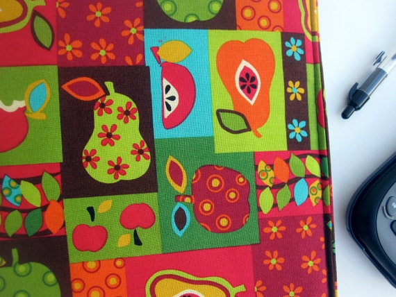 FESTIVAL OF FRUITS Fabric Covered Binder 1 inch 3 Ring Binder
