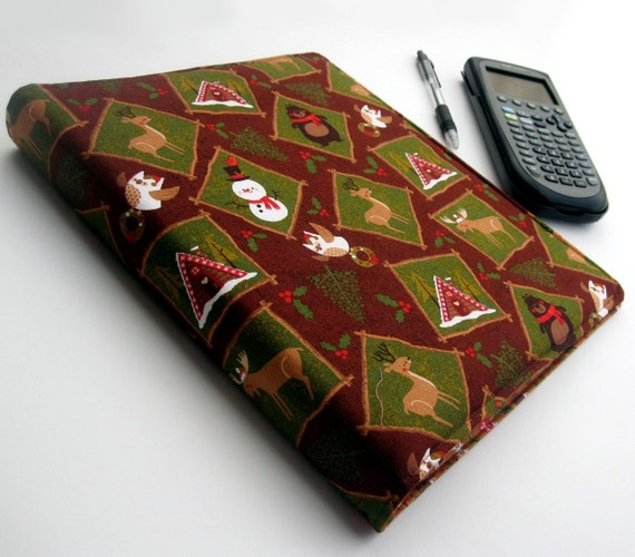 CHRISTMAS 3 Ring Binder Fabric Covered Binder 1 Inch
