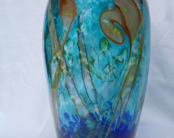 Handblown Glass Vase South Pacific Series