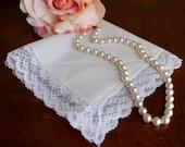 Vintage Lace  White Wedding Hankie