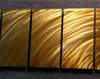 "Abstract Metal Wall Art Sculpture a Painting by Nider the Internationally Acclaimed Artist of Contemporary Decor 64""W x 24""H - SUNSET 2"