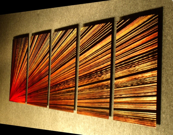 Wall Art Sculpture Contemporary Abstract Painting Metal Abstract Wall