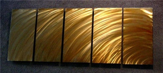 """Abstract Metal Wall Art Sculpture a Painting by Nider the Internationally Acclaimed Artist of Contemporary Decor 64""""W x 24""""H - SUNSET 2"""