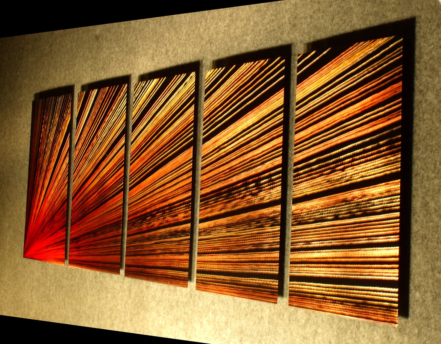 Contemporary Wall Art Decor: Metal Wall Art Sculpture Contemporary Abstract Painting Metal