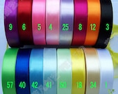 "5/8"" 16mm 10 yards Satin RIBBON 16 color options U pick hairbow scarpbook"