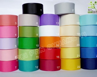 "7/8""22mm 2 yard Grosgrain RIBBON 27 colors U pick hairbow scarpbook"