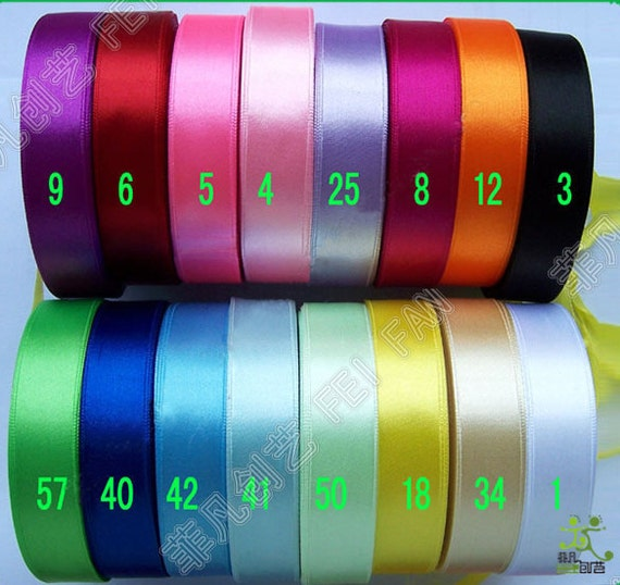 "5/8"" 16mm 10 yards Satin RIBBON 16 color options U pick hairbow scarpbook"