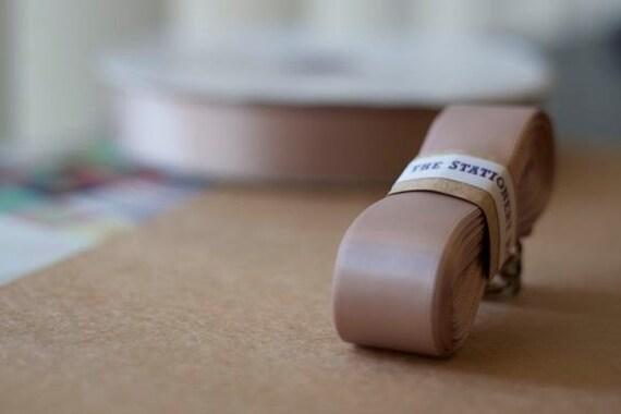 "SAMPLE SALE - Double Face Satin Ribbon - 10 yards 25mm (0.98"") - Nudes Vanilla No.813"