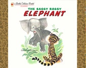 Saggy Baggy Elephant Golden Book Fabric Panel by Quilting Treasures