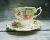 Vintage Royal Albert Bright Chintz Tea Cup and Saucer