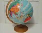 Vintage 12 inch Replogle World Globe Relief Mountain Ranges