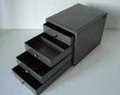 Industrial Metal Tool Box Cabinet - Kennedy Tool Box - Industrial Decor - Gun Metal Gray -