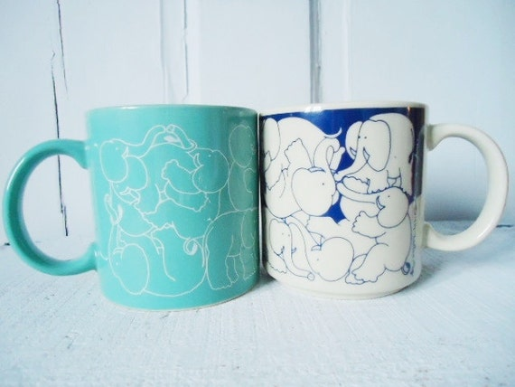 Fabulously Retro and Slightly Perverse but Totally Fun Ceramic Mugs