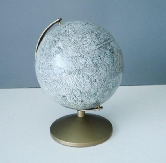 Rare Vintage 1960s Replogle Moon Landing Globe