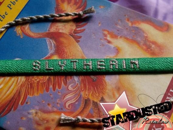 Ready-to-Ship Slytherin House Woven Bracelet