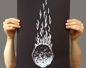 Hand-Printed Asteroid 12x18 Limited Silkscreen Poster