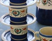 Ceramic Tea Set - German Folk Motif - Jasba Cerafeu