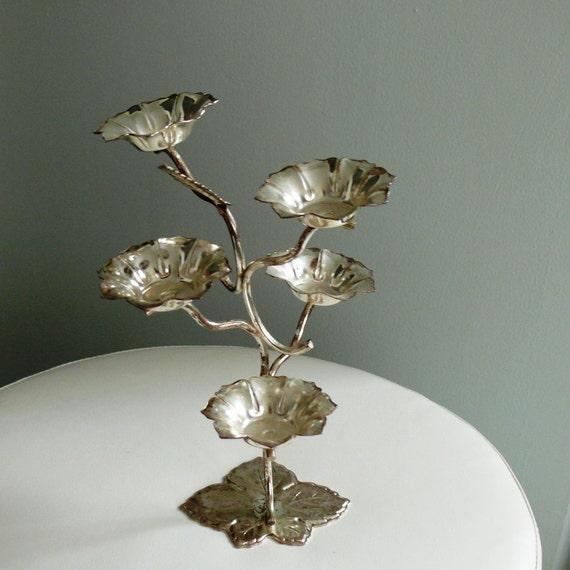 Vintage English Silver Plated Candelabra/ Tea Lights Holder