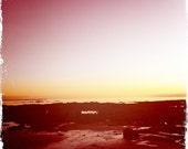 Winter Sunset, Seamill Beach, Scotland - Colour Photograph