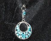 Hijab Pin Aquamarine Rhinestone Hijab Jewelry