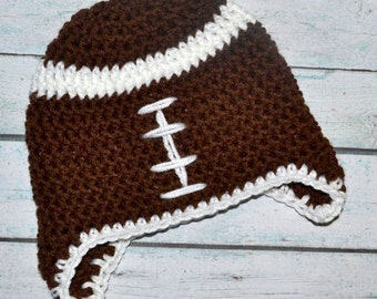 newborn hat - football - customize in team colors