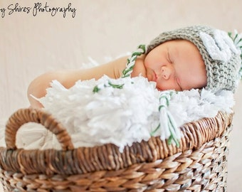 newborn & infant crochet hat - MSU -