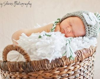newborn boy hat - infant boy hat - michigan state baby newborrn crochet hat