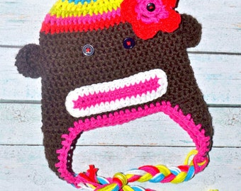 toddler sock monkey hat