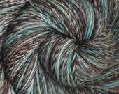 Handspun yarn - Eye Of The Storm - hand-dyed Superwash wool, DK weight. 615 yds.