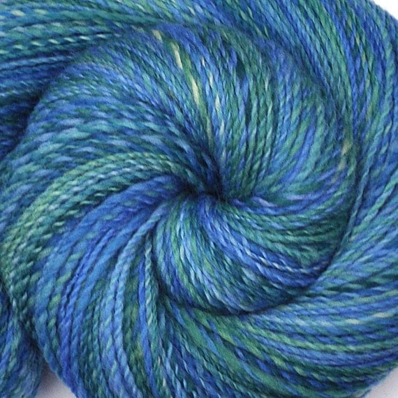 Handspun yarn - CAPRI - Handpainted Falkland wool, fine sport weight, 400 yards