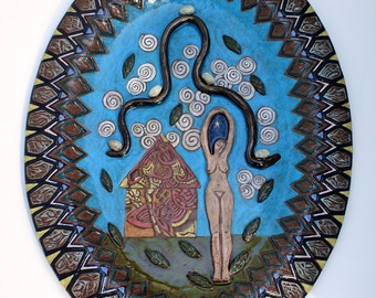 ceramic art; ceramic wall art; ceramics and pottery