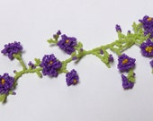 Miniature Beaded Purple Rose Vine