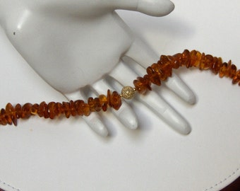 Handcrafted OOAK Baltic Amber Bead Bracelet // 14K Gold filled Organic Gemstone Jewelry